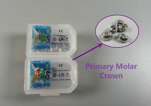 Dlr 7 Dental Kid Primary Molar Crown Preformed Pediatric Stainless Steel 20pcs