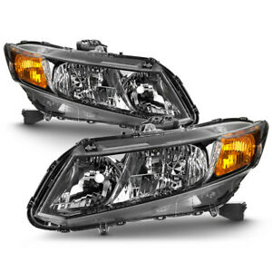 12 15 Honda Civic Factory Style Replacement Headlight Lamp Pair Set Left right