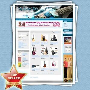 Guitar Store Premium Affiliate Website For Sale Outstanding Income Potential
