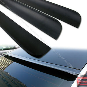 2009 2013 Unpainted For Acura Tsx Cu2 4dr Sedan Rear Roof Spoiler Color Black