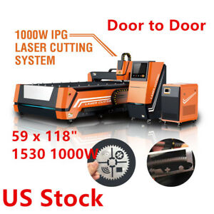 59 X 118 1530 1000w Fiber Laser Cutting Engraving Machine Us Stock
