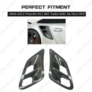 Dry Carbon Turbo Side Air Duct Side Intake 2pcs For 2005 2012 Porsche 911 997