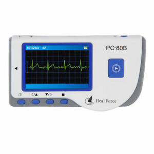 Heal Force Portable Handheld Color Ecg Ekg Heart Monitor Lead Cable