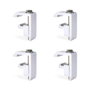 Set Of 4 Mounting Clamps For Toyota Tacoma Tundra Truck Cap Camper Shell Silver