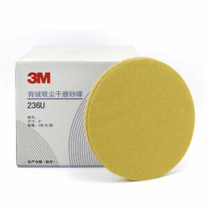 100pc 3m Gold Disc 236u 5 Inch 125mm P120 Grit Dry Sanding Paper
