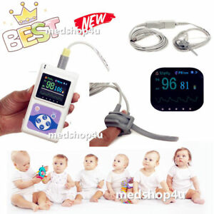 Infant neonatal Pulse Oximeter Pr Animal Tongue Ear Spo2 Probe software hot new