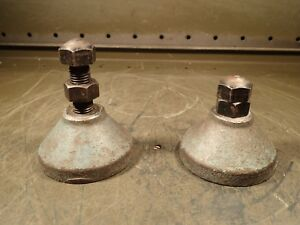 2 Piece Set Of Machinist Work Supporting Leveling Screw Jacks Height Range 3 4