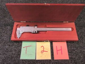 Starrett No 123 Vernier Caliper 8 Dial 001 Measure Tool Machine Shop Used