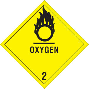 Tape Logic Labels oxygen 2 4 X 4 Black yellow 500 roll Dl5080