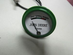 John Deere Unstyled B Tractor White Faced Water Temp Gauge W 24 Lead 9301