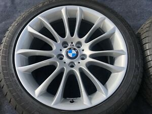 4 Genuine Bmw 745 750 7 5 Series Non Staggered Wheel Tires Oem Factory