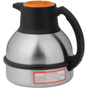 Thermal Carafe Stainless Steel Vacuum Insulation 64 Oz Deluxe Orange deca New