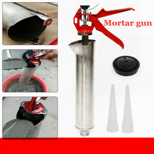 Brick Grouting Mortar Sprayer New Stainless Steel Caulking Gun Mortar Applicator