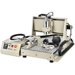 4 Axis 6040 Cnc Router Engraver 1 5kw Vfd Spindle 3d Cutter Engraving Machine Us
