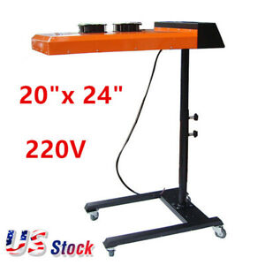 Usa 20 X 24 220v Double Fan Temperature Controller Screen Printing Flash Dryer