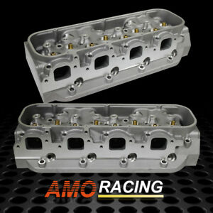 Alu Cylinder Head Rectangle 124cc 345cc Port Bare Fits Bbc Chevy 454 Of 2pcs