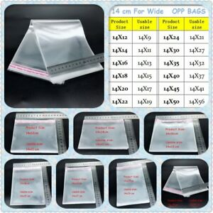 New Clear Resealable Cellophane Bags Self adhesive Sealing Treat Opp Plastic Bag