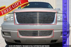 Gtg 2003 2006 Ford Expedition 2pc Polished Replacement Billet Grille Grill Kit