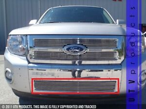 Gtg 2008 2012 Ford Escape 1pc Polished Overlay Bumper Billet Grille Grill