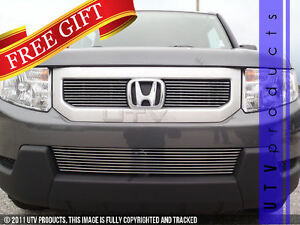 Gtg 2009 2011 Honda Element 3pc Polished Overlay Combo Billet Grille Grill Kit
