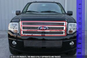 Gtg 2007 2014 Ford Expedition 4pc Polished Billet Grille Grill Insert Kit