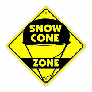 Snow Cone Crossing Sign Zone Xing 14 Snowcone Sno Kone Concessions Fair Italian