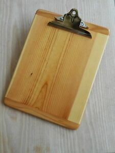 Standard Size Wooden Clipboard Personally Hand Crafted Wood Clipboard
