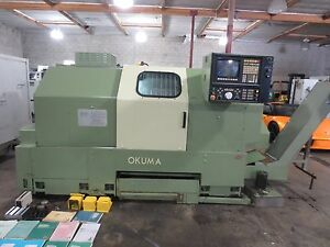 1996 Okuma Lb 25 Lb25 Cnc Lathe Turning Center Haas Video Perfect Machine