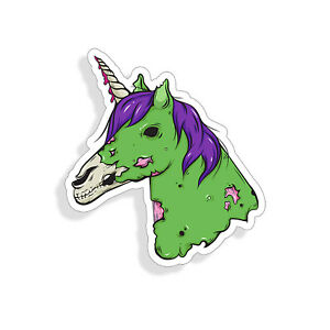 Zombie Unicorn Sticker Horse Head Decal Cup Car Window Bumper Graphic Laptop Jdm
