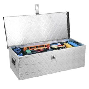 49 Aluminum Camper Tool Box W Lock Pickup Truck Bed Atv Trailer Storage