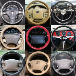 Ford Fiesta Wheelskins Leather Steering Wheel Cover Custom Fit Many Colors