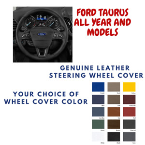 Ford Taurus Wheelskins Leather Steering Wheel Cover Custom Fit Many Colors