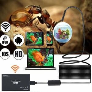 Waterproof 1200p 8mm 8led Wireless Endoscope Wifi Borescope Inspection Camera
