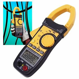 Digital Ac dc Clamp Meter Multimeter Thermometer Ohm