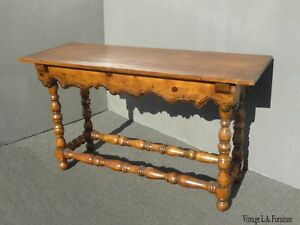 Vintage French Country Farmhouse Rustic Entry Side Table