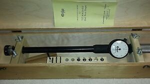 Standard Dial Bore Gage No 3 Measuring Range 1 5 2 16 Case Extensions