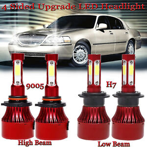 3000w 9005 H7 Cree Led Car Headlights High Low Beam 6000k For Lincoln Town Car