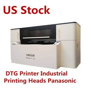 110v Two Station Direct To Garment Printer industrial Printing Heads Panasonic