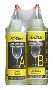 Clear Two Part Epoxy Adhesive Liquid Set Of 2 Bottles Clear 16oz