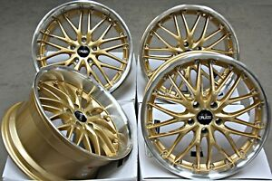 Alloy Wheels 18 Cruize 190 Gdp Staggered Deep Dish Gold Polished 5x120 Alloys