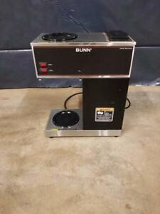 Bunn Vpr Black 12 Cup Pourover Coffee Brewer W 1 Upper 1 Lower Warmer