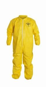 Dupont Tychem Qc125s Fabric Coverall Elastic Cuff With Serged Seams 6x large