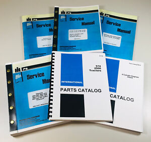 International 574 Diesel Tractor Service Manual Repair Shop Parts Catalog Set