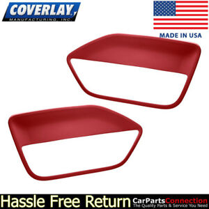 Coverlay Replacement Door Panel Insert Red 12 59 rd For Ford Mustang