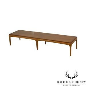 Lane Mid Century Modern Walnut Long Coffee Table