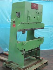 Chicago Model 131 48 X 11 Ton Press Brake With Modified Bed Used As A Press