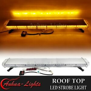 53 Amber Led Warning Emergency Response Tow plow Truck Wrecker Strobe Light Bar