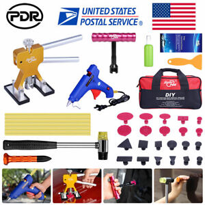 48 Paintless Dent Repair Lifter Pdr Tools Hail Removal T Bar Tap Down Hammer Kit