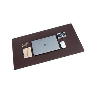 Zbrands Brown Leather Smooth Desk Mat Pad Blotter Protector Extended Non