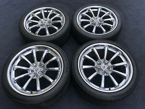 Lexani Jaguar Xf 5x108 20 Inch Concaved Genuine Wheels Tires Chrome Cvx 55